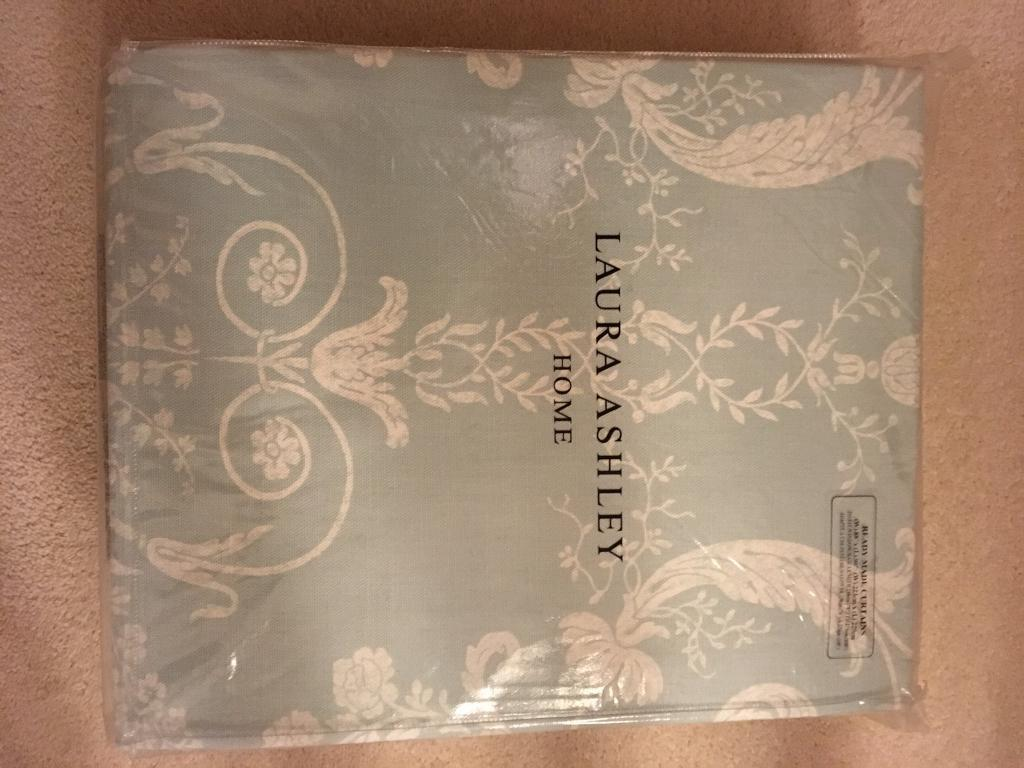 Laura Ashley Ready Made Curtains New Xl Duck Egg In