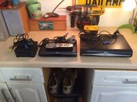 COMPLETE SKY SYSTEM WITH SATELLITE DISH, EXTRA HD BOX, 2 REMOTES AND LOTS OF CABLE
