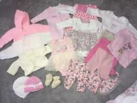 Baby girls dress, outfit cardigan 0-3 months bundle