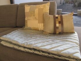 Throw and cushions (Marks & Spencer's)