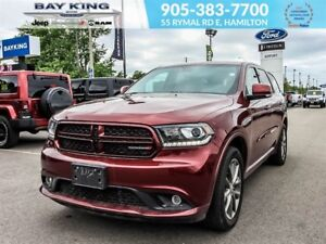 2017 Dodge Durango GT AWD, 2ND ROW CAPTAINS CHAIR, REMOTE START,