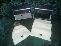 mk hat and scalf set