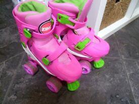 Zinc adjustable Quad Roller skates size 13-3
