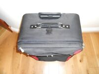Large Pierre Cardin Suitcase Black and Red Good Condition