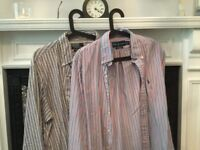 Two Striped Ralph Lauren Shirts 16 (large)