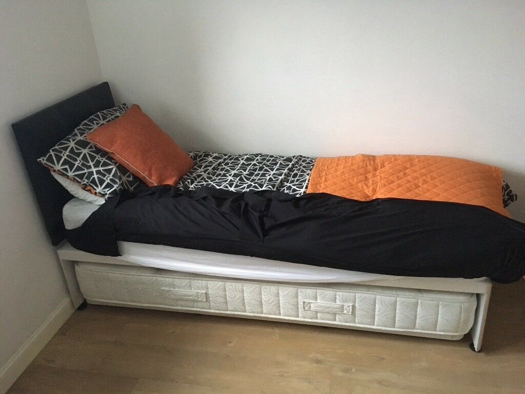Guest bed, 190x78cm, but doubles in width to king size. Excellent condition, whoever sees will buy
