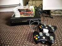 Xbox360+2controllers+6games