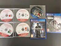 PS4 games (Titanfall 2, Dishonored 2, Final Fantasy XV, Uncharted 4, DOOM, Rainbow X Siege, Steep)