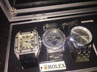 Cartier santos and rolexs