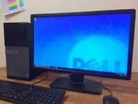 "GAMING PC DELL 790 Windows 10 - i5 3.30Ghz, 8GB, GeForce GT620, 1TB HDD + 23"" Monitor PC"