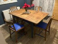 Shabby chic dining room table and chairs