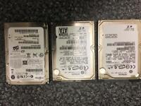 Laptop hard drive 250gb 160gb 120gb