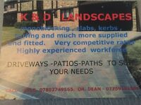 Monoblock driveways -slab paths. All kinds of hard landscaping at great prices.