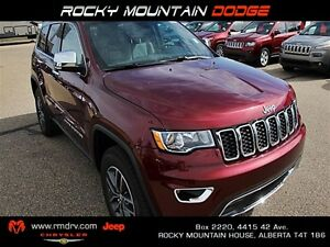 2017 Jeep Grand Cherokee Limited / Heated Leather Seats & Steeri