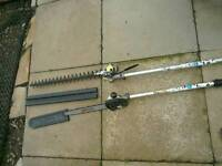 Mantis chainsaw and hedgetrimmer attachment s