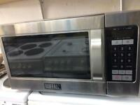 Stainless steel buffalo commercial microwave good condition with guarantee