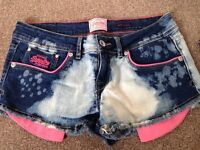 Superdry and Hollister womans shorts