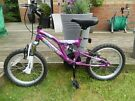 """Girls 14"""" Suspension Mountain Bike  VGC - Collection Only"""