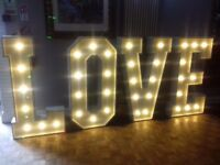 Giant 4ft LED Love Letters ***FOR HIRE***