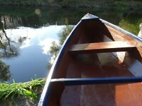 Beautiful wooden canoe 14ft (1-2 pers)