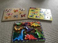 3 Wooden shape sorting puzzles