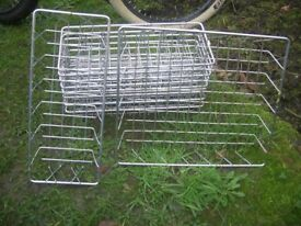 20 ex catering chrome baskets