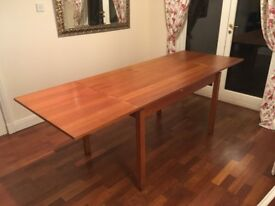Solid Wood Expanding Dinning Room Table. 80cm wide and expands from 120cm to 220cm.