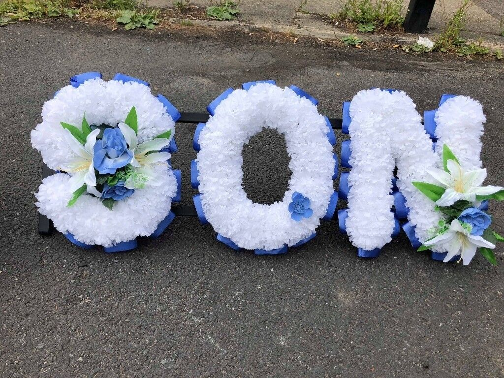 Dad And Son Artificial Funeral Flowers In Ashton Under Lyne