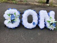 DAD and SON artificial funeral flowers