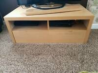 Tv unit and matching storage shelves