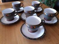 Denby Marrakesh tea cups and saucers