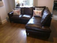 Laura Ashley leather corner sofa