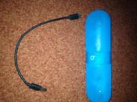 Beats pill bluetooth speaker with charger