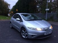 2006 HONDA CIVIC SE I-VTEC SEMI AUTOMATIC PADDLE-SHIFT 5 DOOR HATCHBACK LONG MOT ***BARGAIN***