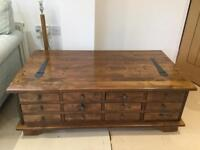 Laura Ashley Garret chestnut 12 draw coffee table