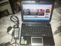 ASUS LAPTOP NETBOOK 8.9'' LCD SCREEN, 12GB SSD, WIN XP FAULTY KEYBOARD KEYS