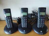 BT Graphite 2100 Trio DECT Digital Cordless Phone - Black