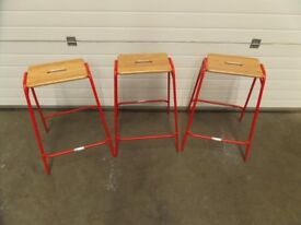 DAVID IRWIN STACKABLE MEETING ROOM VISITORS STOOLS
