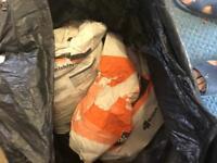 2 bags of finishing plaster