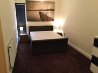 Faux Leather Double bed + memory foam mattress