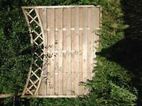 Wooden fence boards