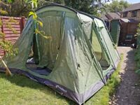 WAS £500 NEW - OUTWELL OAKVILLE 500 SIGNATURE COLLECTION - 5 MAN TENT (a few tears)