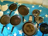 Pans, pots, chopping boards, bowls