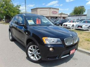 2012 BMW X3 PANORAMIC ROOF DUAL DVD 6CYL
