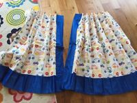 Children's curtains / Roman blinds / Curtains with blackout lining - brand new never used