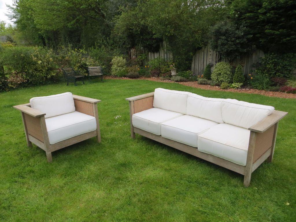 Indian Ocean Teak Garden Sofa Set with Cushions. Indian Ocean Teak Garden Sofa Set with Cushions   in Bracknell