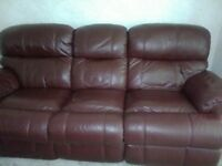 Leather 3 seater & 2 seater £350