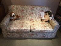Double sofa bed in good condition, rarely used as bed
