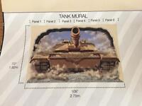 Tank wall mural