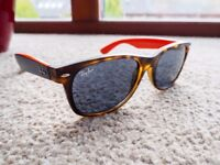Ray Ban - New Wayfarer Sunglasses Top Blue on Orange